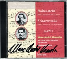 Marc-Andre Hammelin signed Scharwenka Rubinstein Romantic Piano Concerto Hyperion