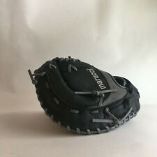 Marucci Geaux Mesh Series Black Baseball Glove Worn On Left Hand First Base