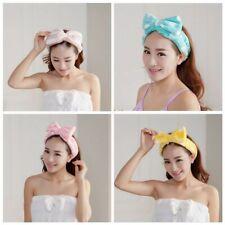 Cute Big Bow Striped Soft Hair Band Head Wrap Headband Bath Spa Headband Make Up