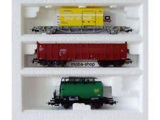 PIKO 3-tlg. Güterwagen-Set SBB, CFF, DB, La Poste (jour et nuit), BP, ...   #549