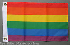 New Rainbow Flag Small Size Polyester Lesbian Gay Pride LGBT Banner