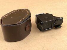 E.Leitz AUFSU Vintage Black Finder with Leather Case, Front Glass Cracked