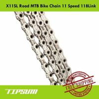 TIPSUM X11SL Road MTB Bike Chain 11S 118Link fits Shimano SRAM CAMPAGNOLO KMC