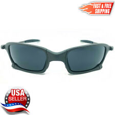 Squared X-Metal Sunglasses Polarized Uv400 Black Iridium Lenses & Metal Frames