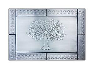 "Stainless Steel Metal Tiles - Kitchen Backsplash   31.2"" x 15.6""   Tree Motive"