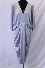 ASOS Curve Women's Plus Metallic Drape Bodycon Dress MC7 Silver Size US:16 UK:20