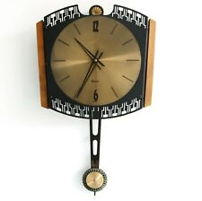 SCHATZ ELEXACTA Vintage WALL Clock Germany PENDULUM Electromagnetic! Mid Century