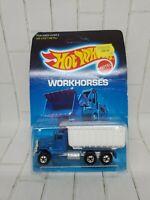Hot Wheels Peterbilt Dump Truck Workhorses Series #9550 New NRFP 1986 Blue 1:64