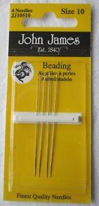 John James Beading Needles - Various Sizes