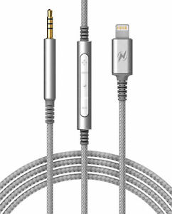 BOSE QC25,QC35 Audio Cable iPhone Connector Remote Mic Vol Ctrl Replacement Cord
