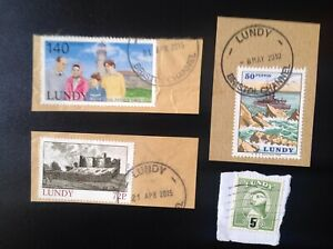 Lundy Island, nice used stamps on piece.