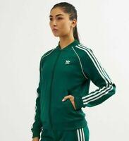 SMALL  adidas  OG Women's AdiColor  SST TRACK TOP JACKET  GREEN  UK10-US6  LAST1