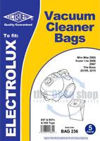 5 x Electrolux Vacuum Cleaner Bags E67, E67N & H55 Type - SUPER LITE Z966, Z967