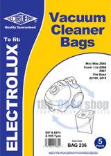 5 x ELECTROLUX MINIMITE & SUPERLITE Vacuum Cleaner Bags E67, E67N & H55 Type