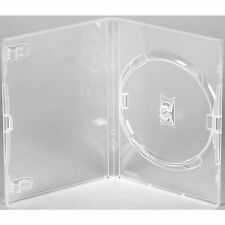 100 X Genuine Amaray Single DVD Clear Case 14mm Spine Ecolite  Pack of 100