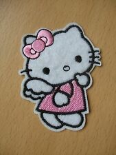 Pack of 4 Pink Hello Kitty Angel Embroidery Patches 74mm Applique Sew On Patch
