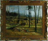 "Michel Hernandez ""Waldlandschaft"". monogrammiert, datiert 1903, Ölgemälde"