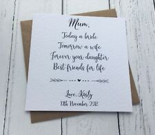 To My Mum Wedding Card - Mother Of The The Bride Card- Personalised