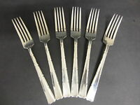 VINTAGE SET OF 6 EP A1 SILVER PLATED DESSERT FORKS BY KENILWORTH