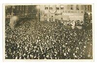 RPPC Crowd in SAN FRANCISCO CA Tetrazzini Opera Singer Real Photo Postcard