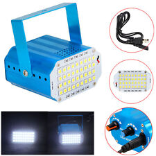 Mini 36x LED White Flash Lighting Strobe DJ Disco Strobe Stage Light Party Lamp