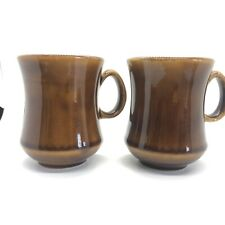 Lot of 2 Brown Restaurant Ware Diner Coffee Mug Cup