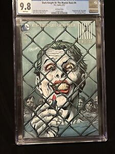 🔥DARK KNIGHT III : THE MASTER RACE # 4  CGC 9.8 Lee 1:500 VARIANT AWESOME COVER