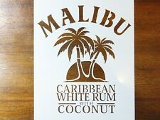 Malibu Rum Stencil FAST FREE SHIPPING