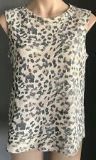 Pre-owned COTTON ON Light Grey/Ivory/Peach Sleeveless Animal Print Top Size S/10