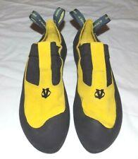 Evolv Addict Rock Climbing Shoes Lemon Yellow Mens 12 (46)