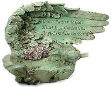 Shabby Garden Ornament  Angel Wing Shaped Bird Feeder .. Bird Bath...
