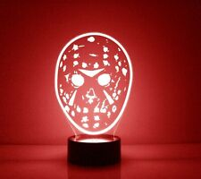 Jason Mask LED Night Light Lamp 16 Colors with Remote Personalized FREE