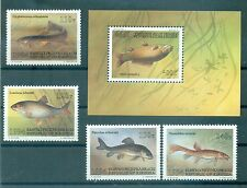 PESCI D'ACQUA DOLCE - FRESH WATER FISHES KYRGYZSTAN 1994 setr+block