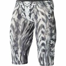 TYR Men's Racing Swimming Jammer - Venzo Genesis Jammer - Black/White