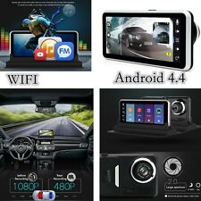 "7"" HD Dash Cam Recorder GPS Navigation Android WIFI Dual Lens Recorder Camera"