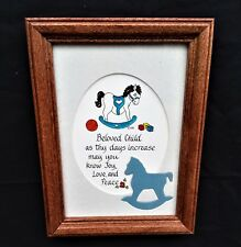 FRAMED & MATTED ROCKING HORSE PICTURE PERFECT FOR LITTLE BOYS ROOM