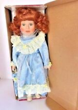 """Genuine Victorian Porcelain Doll by The Starz Collection handcrafted in box 16"""""""