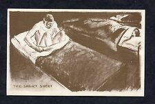 "WWII US Forces Card - Cartoon - ""The Short Sheet"""