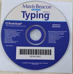Mavis Beacon Teaches Typing  Version 17 Broderbund educational Mac Windows