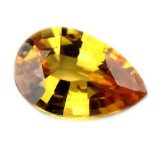 Certified Natural Unheated 0.66ct Golden Yellow Sapphire Pear Cut VS Clarity