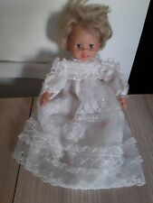 2006 Mattel talking/hand moving doll in beautiful christening dress