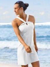 ATHLETA Kiki Swim Dress XS White   Summer Travel UPF 50+ Beachwear NEW