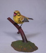 Prairie Warbler Bird Wood Carving/Birdhug