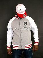 Ecko Mens Baseball Bomber Cotton Fleece Lightweight Jacket Time G Money Is Star
