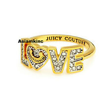Juicy Couture Mini LOVE Ring Gold Women Size 6 BNIB*