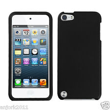 Apple iPod Touch 5 Snap-On Cover Hard Case Phone Accessory Rubber Black