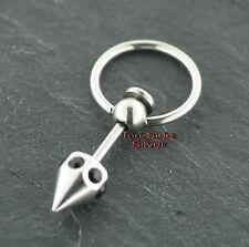 Piercing Ball Closure Ring Klemmring Kristallwürfel Black Brustpiercing Ohrring