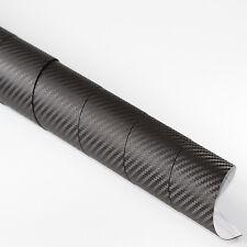 3x DIN A4 Wrapping Folie 3D Carbon Schwarz 21cm x 29,7cm Autofolie m Luftkanälen