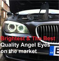 BMW 7 SERIES F01 / F02 Xenon White LED Angel Eyes Rings Marker Kit - 20W H8