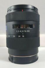 Sony Carl Zeiss Vario-Sonnar DT T* 16-80mm F3.5-4.5 SAL1680Z Alpha A-Mount